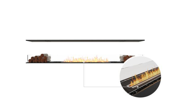 Flex 104IL.BX2 Island - Ethanol - Black / Black / Installed View by EcoSmart Fire