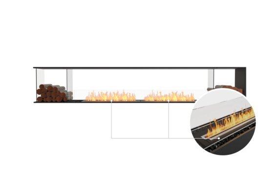 Flex 122PN.BX2 Peninsula - Ethanol - Black / Black / Installed View by EcoSmart Fire