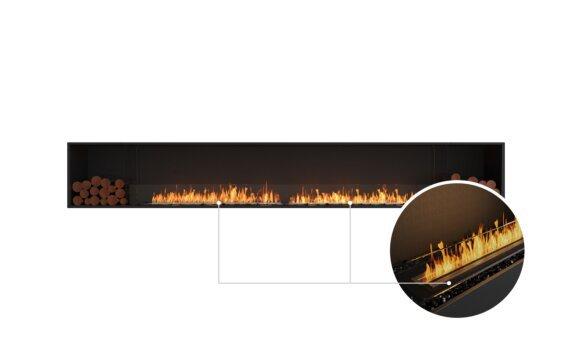 Flex 140SS.BX2 Single Sided - Ethanol - Black / Black / Installed View by EcoSmart Fire