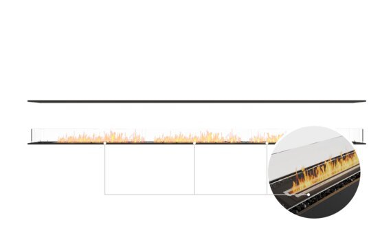 Flex 158IL Island - Ethanol - Black / Black / Installed View by EcoSmart Fire