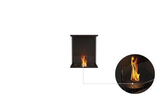 Flex 18 - Ethanol - Black / Black / Installed View by EcoSmart Fire