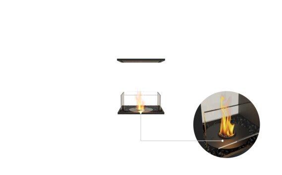 Flex 18IL Island - Ethanol - Black / Black / Installed View by EcoSmart Fire