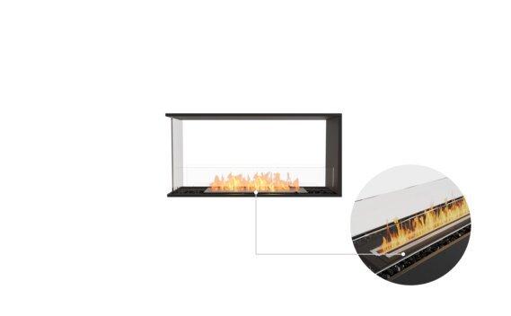 Flex 42PN Peninsula - Ethanol - Black / Black by EcoSmart Fire