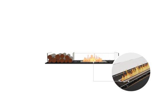 Flex 50BN.BX1 Bench - Ethanol - Black / Black / Installed View by EcoSmart Fire