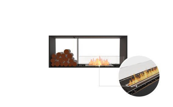 Flex 50DB.BX1 Double Sided - Ethanol - Black / Black / Installed View by EcoSmart Fire