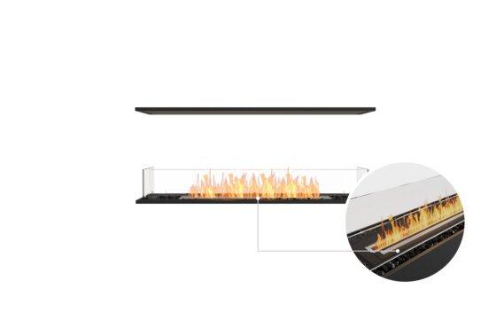 Flex 50IL Island - Ethanol - Black / Black / Installed View by EcoSmart Fire