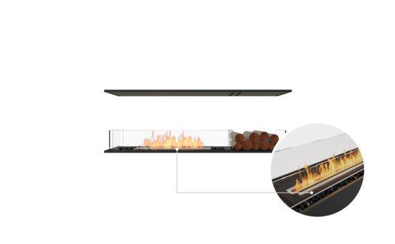 Flex 60IL.BX1 Island - Ethanol - Black / Black / Installed View by EcoSmart Fire
