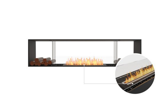 Flex 86DB.BX2 Double Sided - Ethanol - Black / Black / Installed View by EcoSmart Fire