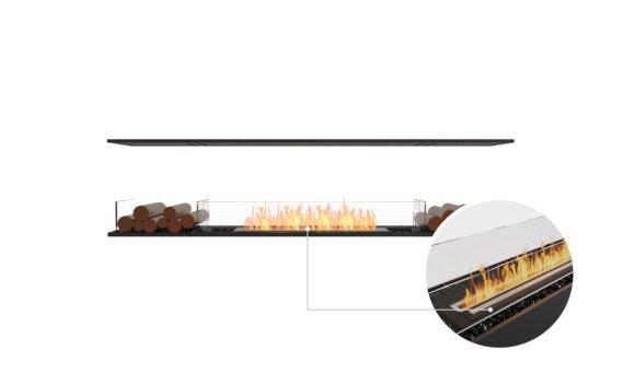 Flex 86IL.BX2 Island - Ethanol - Black / Black / Installed view by EcoSmart Fire