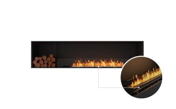 Flex 86SS.BXL Single Sided - Ethanol - Black / Black / Installed View by EcoSmart Fire