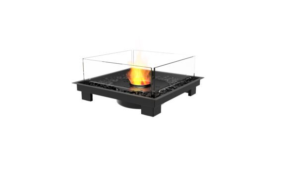 Square 22 Fireplace Insert - Ethanol - Black / Black by EcoSmart Fire