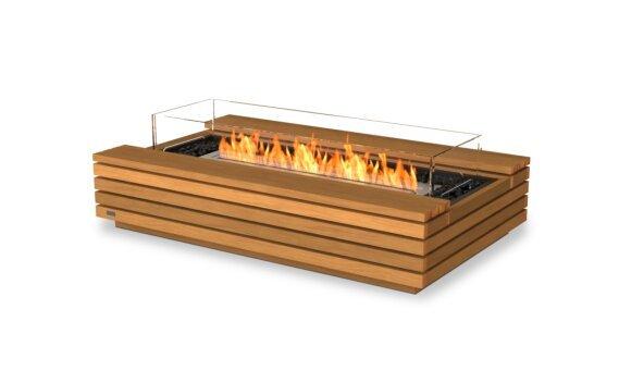 Cosmo 50 Fire Pit - Ethanol / Teak / Optional Fire Screen by EcoSmart Fire