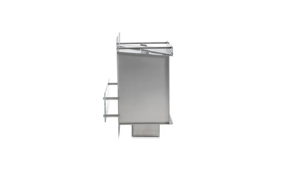 Firebox 800SS Fireplace Insert - Ethanol / Stainless Steel / Side View by EcoSmart Fire