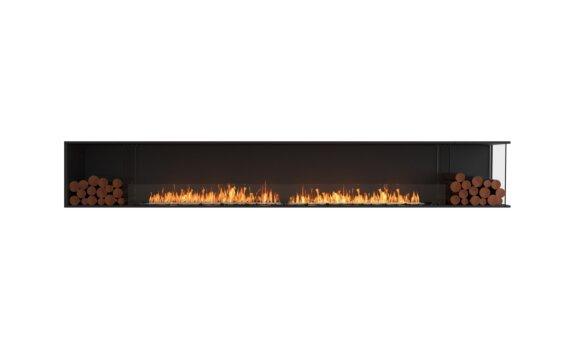 Flex 140RC.BX2 Right Corner - Ethanol / Black / Installed View by EcoSmart Fire