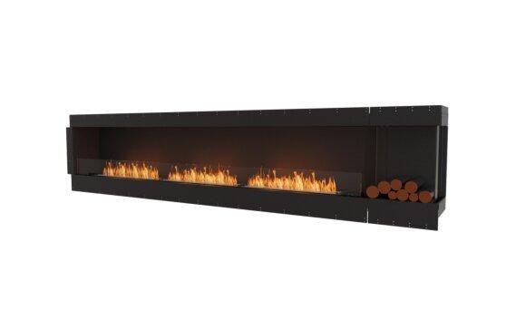 Flex 140RC.BXR Right Corner - Ethanol / Black / Uninstalled View by EcoSmart Fire