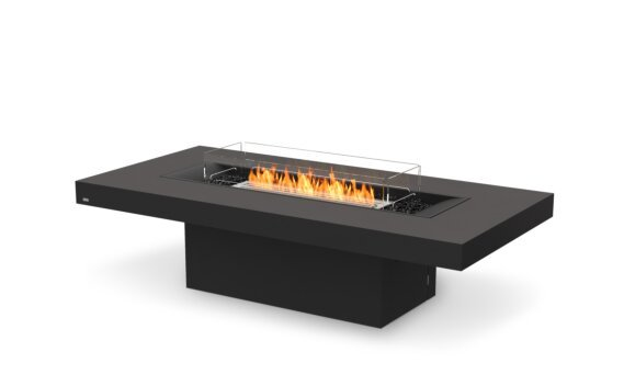 Gin 90 (Chat) Fire Pit - Ethanol / Graphite / Optional Fire Screen by EcoSmart Fire