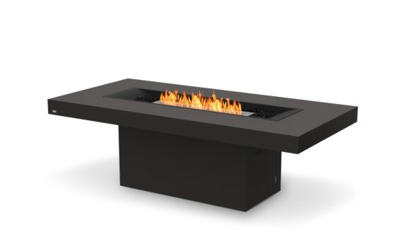 Gin 90 (Dining) Fire Pit - Ethanol / Graphite / Optional Fire Screen by EcoSmart Fire