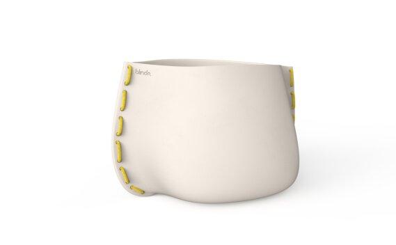 Stitch 100 Planter - Bone / Yellow by Blinde Design