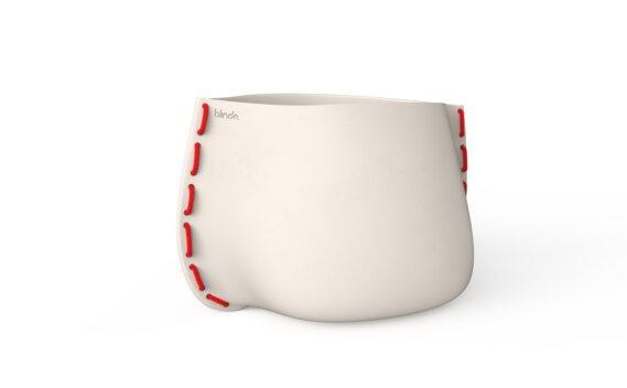 Stitch 100 Planter - Bone / Red by Blinde Design