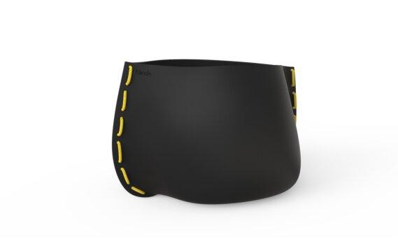 Stitch 100 Planter - Graphite / Yellow by Blinde Design