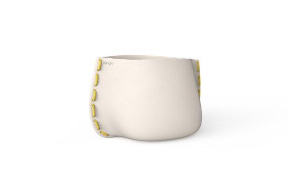 Stitch 50 Planter - Bone / Yellow by Blinde Design