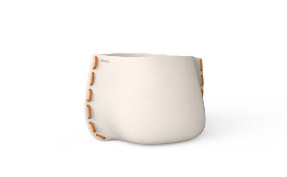 Stitch 75 Planter - Bone / Orange by Blinde Design