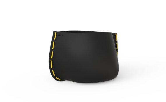 Stitch 75 Planter - Graphite / Yellow by Blinde Design