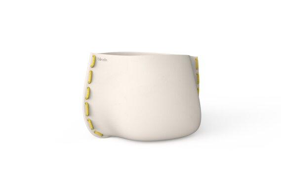 Stitch 75 Planter - Bone / Yellow by Blinde Design