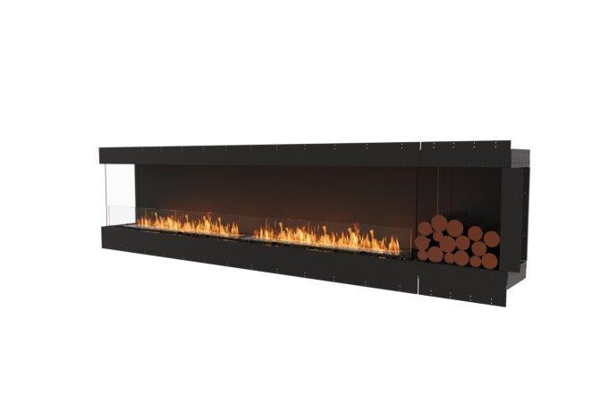 Flex 122LC.BXR Left Corner - Ethanol / Black / Uninstalled View by EcoSmart Fire
