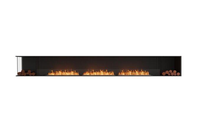 Flex 158LC.BX2 Left Corner - Ethanol / Black / Installed View by EcoSmart Fire