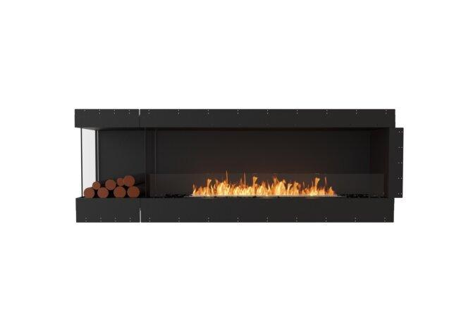 Flex 86LC.BXL Left Corner - Ethanol / Black / Uninstalled View by EcoSmart Fire