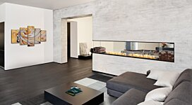Flex 122PN.BXL Fireplace Insert - In-Situ Image by EcoSmart Fire