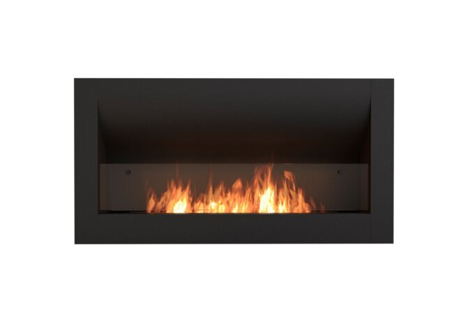 Firebox 1400CV Curved Serie - Ethanol / Black / Front View by EcoSmart Fire