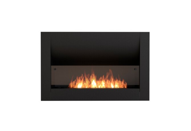 Firebox 1100CV Curved Serie - Ethanol / Black / Front View by EcoSmart Fire