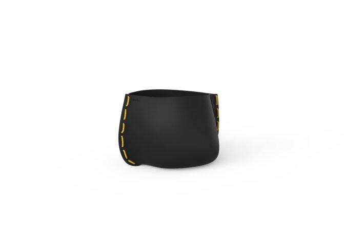 Stitch 25 Planter - Graphite / Yellow by Blinde Design