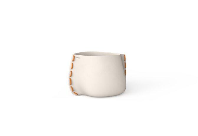 Stitch 25 Planter - Bone / Orange by Blinde Design