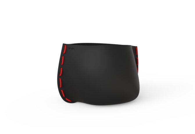 Stitch 75 Planter - Graphite / Red by Blinde Design