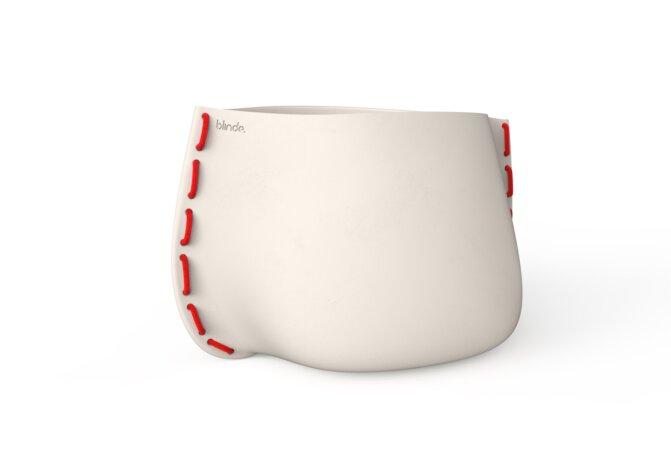 Stitch 125 Planter - Bone / Red by Blinde Design