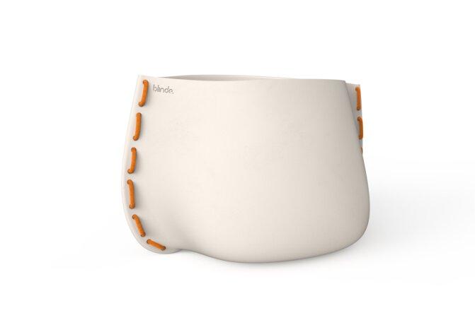 Stitch 125 Planter - Bone / Orange by Blinde Design