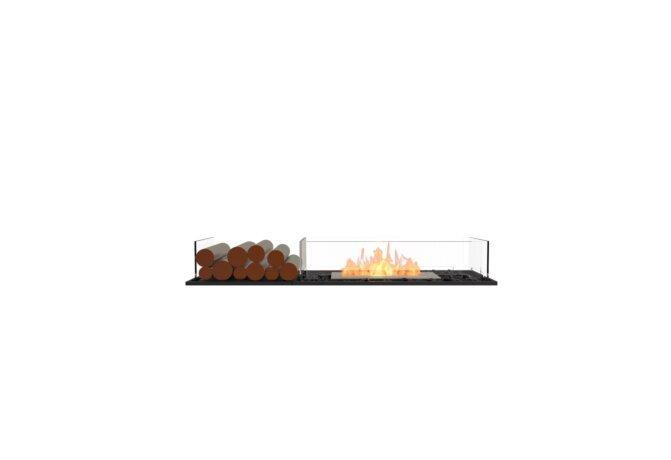 Flex 50BN.BX1 Bench - Ethanol / Black / Installed View by EcoSmart Fire