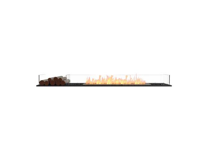 Flex 86BN.BX1 Bench - Ethanol / Black / Installed View by EcoSmart Fire