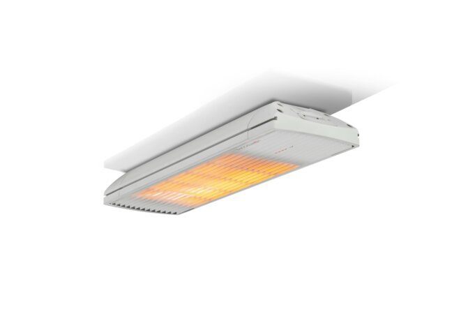 Spot 1600W Radiant Heater - White / White - Flame On by Heatscope