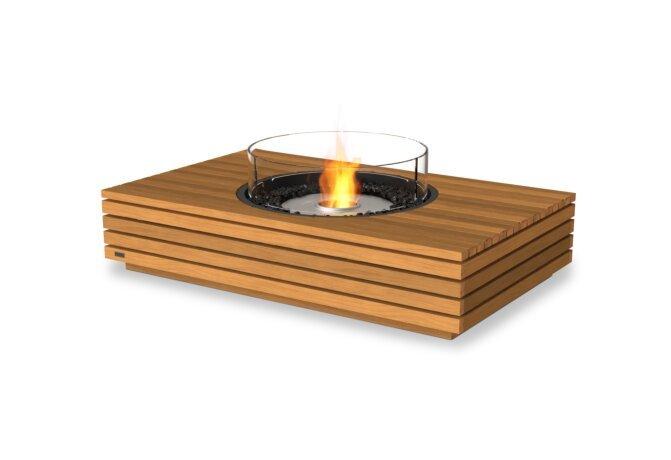 Martini 50 Fire Pit - Ethanol / Teak / Optional Fire Screen by EcoSmart Fire