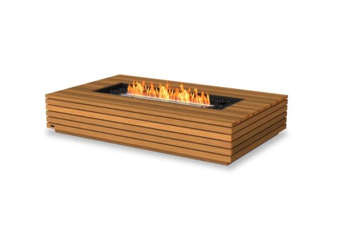 Wharf 65 Fire Pit - Ethanol - Black / Teak by EcoSmart Fire