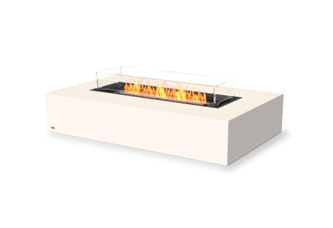 Wharf 65 Fire Pit - Ethanol - Black / Bone / Optional Fire Screen by EcoSmart Fire