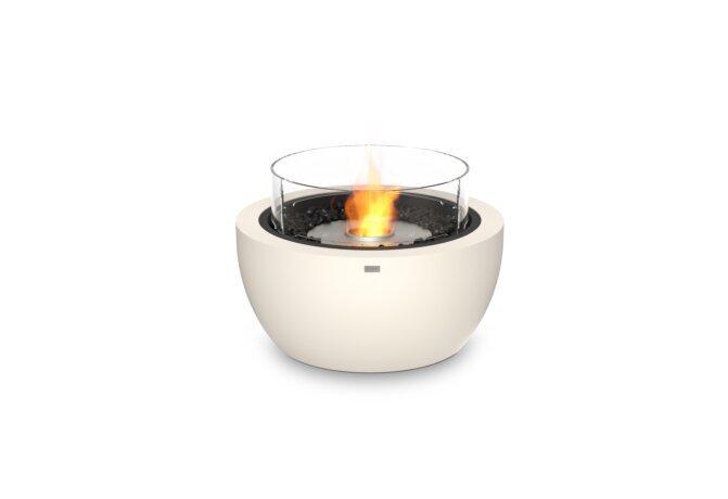 Pod 30 Fire Pit - Ethanol / Bone / Optional Fire Screen by EcoSmart Fire