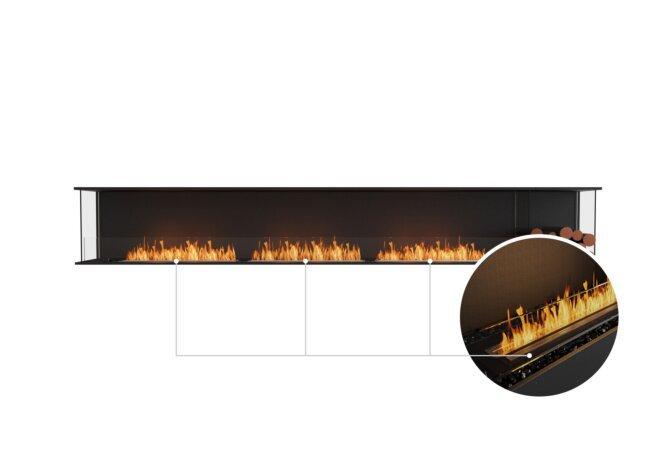 Flex 140 - Ethanol - Black / Black / Installed View by EcoSmart Fire