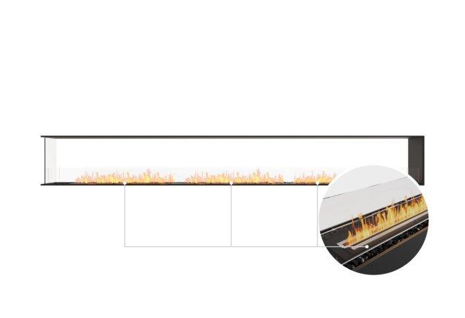 Flex 158PN Peninsula - Ethanol - Black / Black / Installed View by EcoSmart Fire