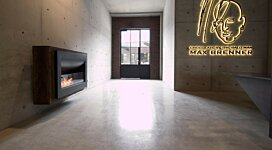 Firebox 1100CV Curved Serie - In-Situ Image by EcoSmart Fire