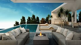 Manhattan Fire Pit - In-Situ Image by EcoSmart Fire